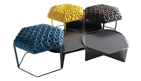 Honeycomb pattern side tables