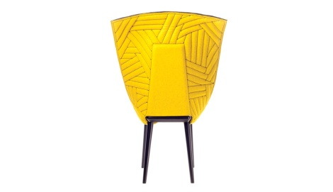 geometric patterns in leather furniture pieces